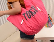 Cloth women s handbag mircofabric bags large capacity shoulder bag letter casual big bag travel bag - AliExpress
