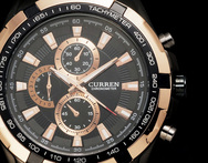 2014 curren men sport watch fine embed steel tachymeter case multi subdial deco dial stainless steel band military watch - AliExpress
