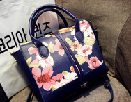 2014 women s handbag vintage flower print bag handbag clad cover type elegant messenger bag - AliExpress