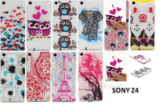 Ultra Thin soft TPU Crystal Transparent Relief Pattern For Sony Xperia Z4 Case Back Cover Owl Eiffel Tower Elephant Flower - AliExpress