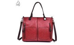 Luxury Fashion Women Lady Oil Wax Patent Leather Large Tote Bag Handbag Messenger Shoulder Bags TOP handle Hand With Purse Maidy - AliExpress