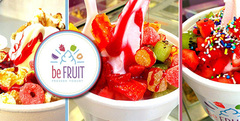 Frozen Yogurt M 360cc sabores a eleccion toppings ilimitados en Be Fruit 3 suc 9