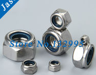 M6 100PCS DIN985 Stainless Steel Nylock Self Locking Hex Nuts - AliExpress