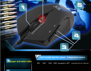 GAME MOUSE 4800DPI 4 core 4 clase optical 6D Gamer Mouse for pc and tablet with blue light - AliExpress