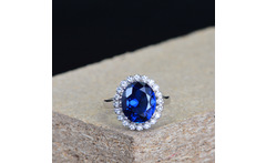 925 Sterling Silver Women Sapphire Sapphire Ring Silver 925 Designer Jewelry Luxury Fashion Jewelry Wedding gifts for parti - AliExpress
