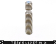 3d printer accessories Makerbot mk8 stainless steel pipes M6X26 teflon ptfe core - AliExpress