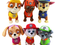 2015 new 9 in paw patrol toys plush robot dog music walking electronic english russian toys patrulla canina toys interactive toy - AliExpress