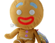 Free shipping high quality 10inches Shrek Gingerbread Man toy Gingerbread Man doll plush toy for children gift - AliExpress