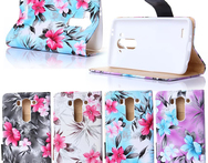 1pcs For LG g3 mini cover PU Leather flower Painted Holder Flip Stand Case for LG G3 MINI D722 D725 D728 D724 Cell Phone bag - AliExpress