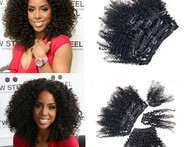 12 14 16 18 20 Indian Remy Hair Full Head Clip in Human Hair Extensions Kinky Curly 8pcs 18clips - AliExpress
