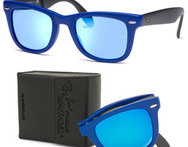 ENVIO GRATIS: Lentes Ray Ban Wayfarer Folding blue. - Descontate