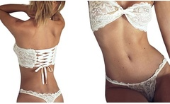 Set de lenceria picante Barbara en color blanco disponible en varias tallas - Groupon