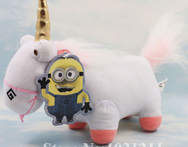 Free shipping 21cm Despicable Me Soft Toy Fluffy Unicorn Plush Stuffed Doll - AliExpress