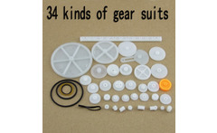 force the gear package 0 5 touch 34 kinds of gear suits Monolayer double Worm pulley Crowne gear free shipping - AliExpress