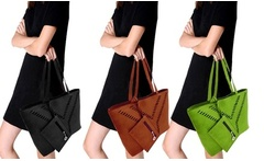 Shopping bag Ilary in ecopelle disponibile in 3 colori - Groupon