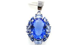 Gorgeous Long Tanzanite Woman s Wedding 925 Silver Pendant 26x17mm - AliExpress