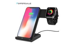 Portefeuille Wireless Charger for Apple Watch Stand 2 in 1 Fast Charger Docking Station Holder for iWatch 2 3 4 iphone XS MAX XR - AliExpress