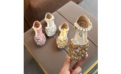Children s shoes 2019 Summer new kids shoes Lovely Pearl shoes Fashion gold silvery girl sandals baby shoesfor kiad 21 36code - AliExpress
