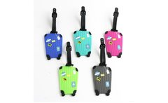 New Suitcase Cartoon Luggage Tags Design ID Tag Address Holder Identifier Label Travel Accessories - AliExpress