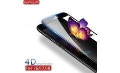 4D Full Cover Tempered Glass for iPhone 7 glass iphone 8 Screen Protector glass For iPhone 6 6s 8 7 Plus Tempered Glass film 9H - AliExpress