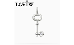 Pendant Lucky Clover Key 925 Stering Silver Zirconia For Women Trendy Gift European Style Punk Pendant Fit DIY Necklace - AliExpress