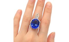 US sz 7 New Arrival Oval 18x15mm Violet Tanzanite Natural CZ Woman s Gift 925 Silver Ring 31x18mm - AliExpress