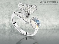 Anel Butterfly made with Swarovski® Elements - LetsBonus