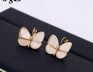 High Quality Beautiful Butterfly Stud Earrings With White Opal Shell Brincos Pequeno Pendientes Bijoux For Women Jewelry - AliExpress