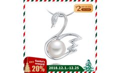 8 9mm New Fashion 2018 Fresh Water Swan Pearl Necklace Pendants 925 Sterling Silver Color Trendy Pearl Pendant Women Gifts - AliExpress