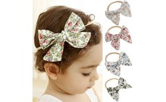 Baby hair elastics Girl Headbands Colorful Newborn Baby Bows Headband Elastic Kids Toddlers Hair Band Baby Girl Hair Accessories - AliExpress