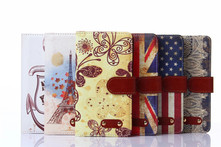 For Samsung Galaxy A7 A700 A7000 Phone Bags Original brand Logo Retro flower print Vintage PU Leather Stand Flip Cover Cases - AliExpress