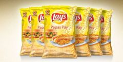 Pack de 6 Lays Papas Pay de 100 grs c/u - woOw