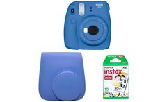 Pack Instax Mini 9 10 Films Y Funda Cobalt Blue - Linio