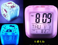 Toy action figures and toys for Christmas 2015 to do the Hello Kitty cartoon game clock with LED free shipping W66 - AliExpress