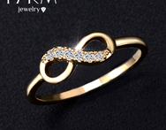 17KM Brand Genuine Ring Best Friends Wholesale Crystal Cross Infinity Rings Gold Platinum Plated Charm Jewelry Friends Gifts - AliExpress