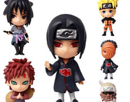 Q Naruto sasuke uchiha 6 pcs set New Naruto Cute Figure Set Figurine PVC Toy for children birthday gift anime action figures - AliExpress