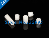 M4 12 100pcs lot Nylon Standoff Spacer Nylon Threaded Spacer hex spacer Nylon Standoff Spacer M4 L Female - AliExpress