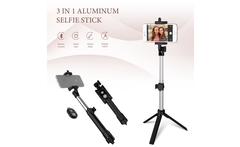 CASEIER 3 in 1 Aluminum Selfie Stick Bluetooth Foldable For iPhone XS MAX For Samsung Xiaomi Huawei Remote Handheld Selfiestick - AliExpress