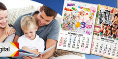 ¡Regalo de Fiestas! Calendario de pared 20x30 personalizado c/fotos o en CD a $89 - Clickon