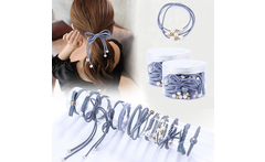 12Pcs Set High Elastic Hair Bands Solid Pearl Stretch Hair Ties For Women Baby Girls Ponytail Holder Hair Ropes Hair Accessories - AliExpress