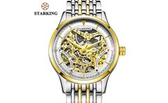 STARKING Brand Vintage Women Automatic Watch 50m Water Resistant Luxury Design Skeleton Mechanical Stainless Steel Wristwatches - AliExpress