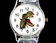 Dinosaur Tyrannosaurus Jurassic T Rex Cartoon Children Kids Boy Girl Gift Watch Transparent Silicone Band - AliExpress