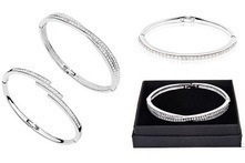 Pulseira Single Row, Triple Row ou Crossover com Swarovski Elements desde 12,99€ - Groupon