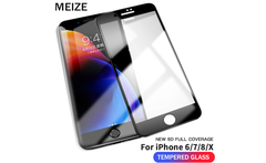 MEIZE 9H NEW 6D Tempered Glass For iPhone 8 Plus screen Protection For iPhone X screen Protector For iPhone X 6s 7 8 Plus glass - AliExpress