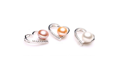 8 9mm Dropshipping New Fashion Christmas Gift 925 Sterling Silver Fresh Water Heart shaped Pattern Pearl Necklace Women Pendant - AliExpress